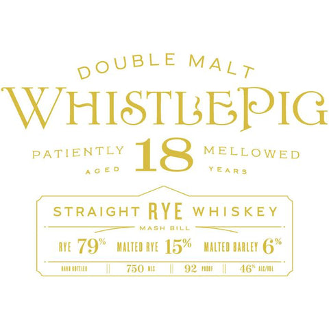 WhistlePig 18 Year Old Double Malt