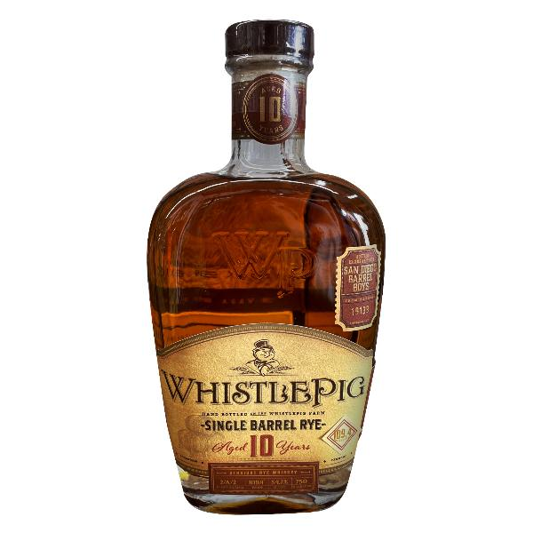 WhistlePig 10-year San Diego Barrel Boys Single Barrel Rye Whiskey 17-year Rye Whiskey WhistlePig