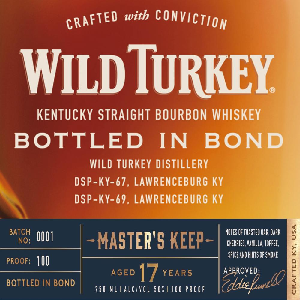 Wild Turkey Master's Keep Bottled In Bond 17 Year Old Bourbon Wild Turkey