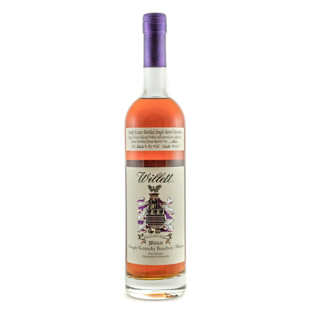 Willett Family Estate Bottled Bourbon 22 Years Old Barrel No. B52 Bourbon Willett Distillery