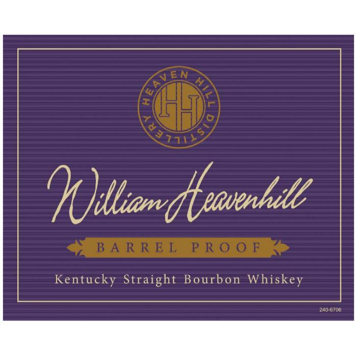 William Heavenhill Barrel Proof 12 Year Old Bourbon Heaven Hill Distillery