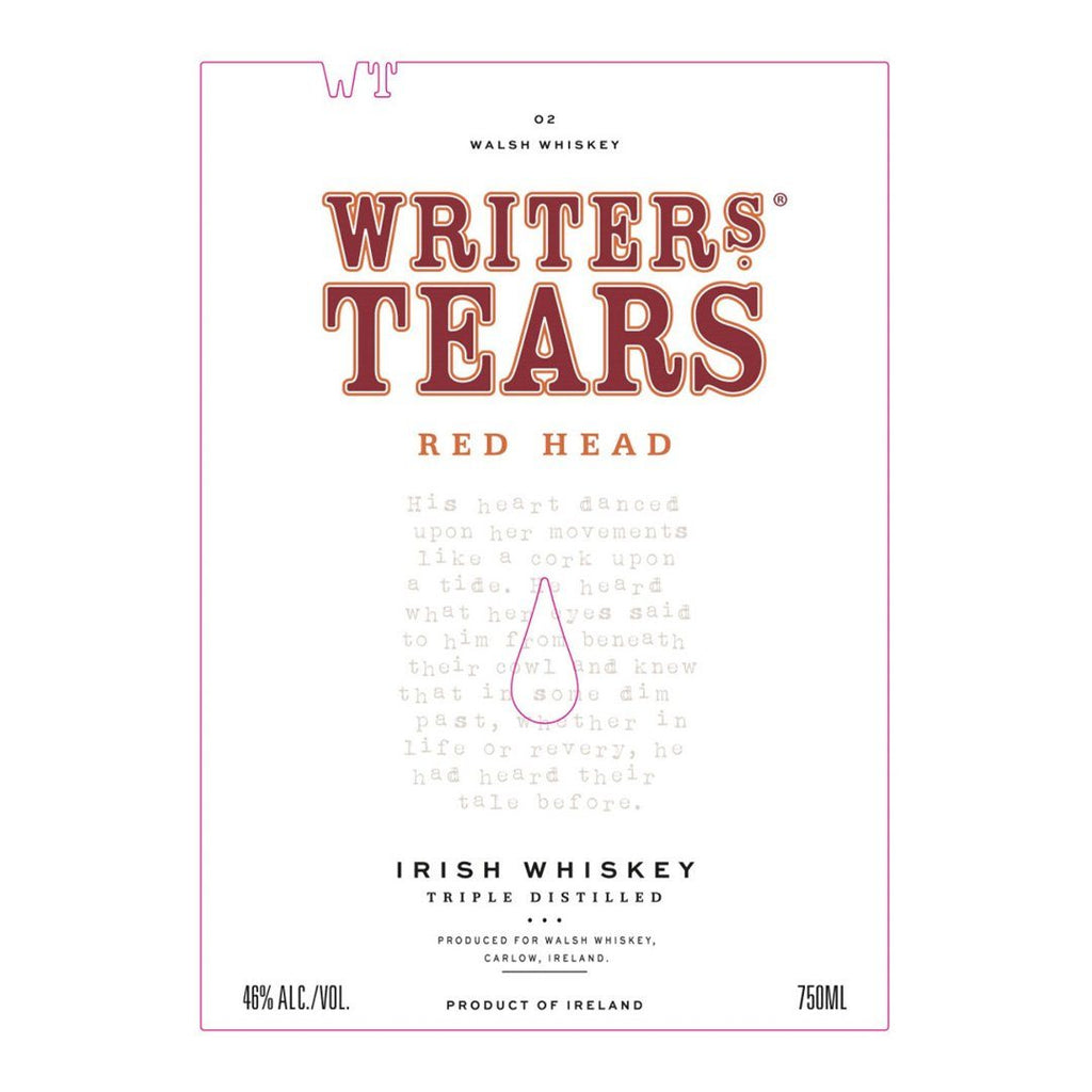 Writer's Tears Red Head Irish Whisky Irish whiskey Writers Tears