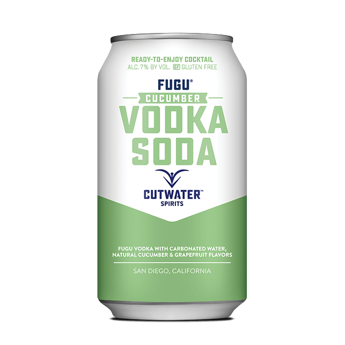 Fugu Cucumber Vodka Soda (4 Pack - 12 Ounce Cans) Canned Cocktails Cutwater Spirits
