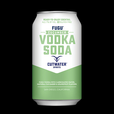 Fugu Cucumber Vodka Soda (4 Pack - 12 Ounce Cans)