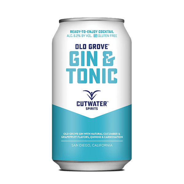 Old Grove Gin & Tonic (4 Pack - 12 Ounce Cans) Canned Cocktails Cutwater Spirits