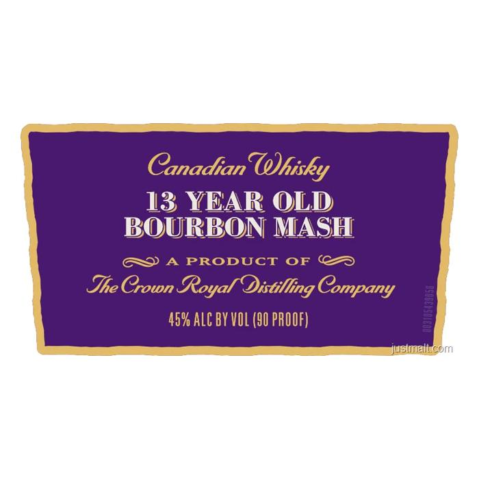 Crown Royal Noble Collection 13 Year Old Bourbon Mash Canadian Whisky Crown Royal