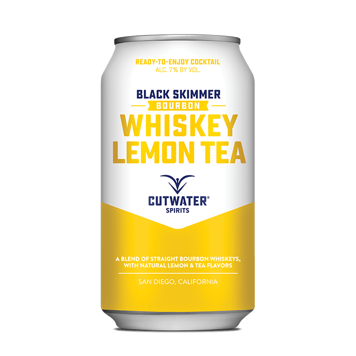 Black Skimmer Whiskey Lemon Tea (4 Pack - 12 Ounce Cans) Canned Cocktails Cutwater Spirits