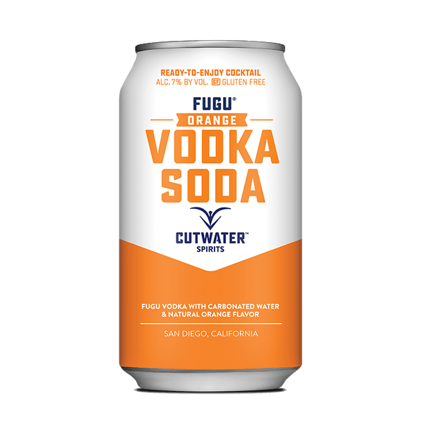Fugu Orange Vodka Soda (4 Pack - 12 Ounce Cans) Canned Cocktails Cutwater Spirits