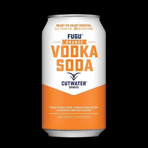 Fugu Orange Vodka Soda (4 Pack - 12 Ounce Cans)
