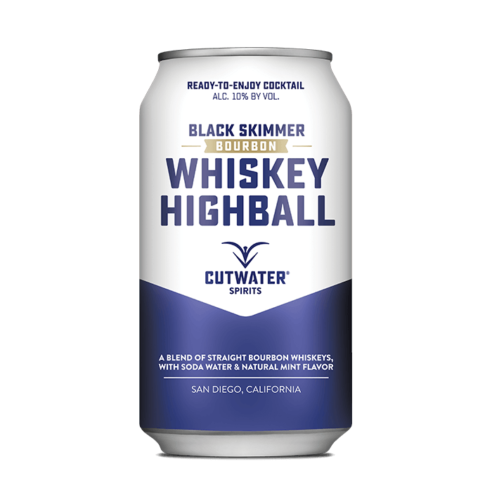 Black Skimmer Whiskey Highball (4 Pack - 12 Ounce Cans) Canned Cocktails Cutwater Spirits