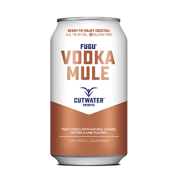 Fugu Vodka Mule (4 Pack - 12 Ounce Cans) Canned Cocktails Cutwater Spirits
