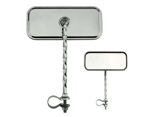 Rectangle Twisted Mirror Chrome Reflectors