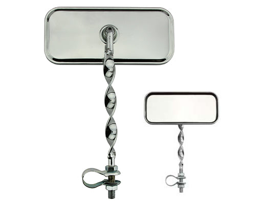 Rectangle Flat Twisted Mirror Chrome