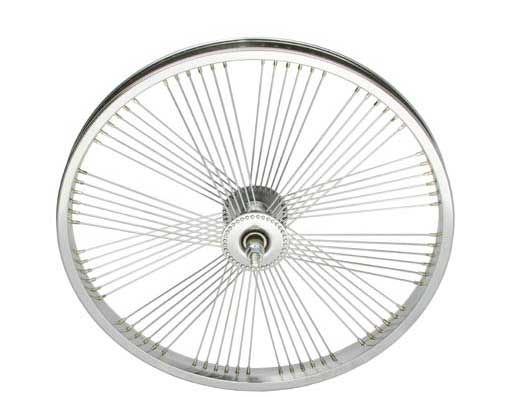 "20"" x 1.75"" Fan Steel Front Wheel 72 Spoke"