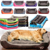 (S-3XL) Large Pet Cat Dog Bed 8Colors Warm Cozy Dog House Soft Fleece Nest Dog Baskets House Mat Autumn Winter Waterproof Kennel