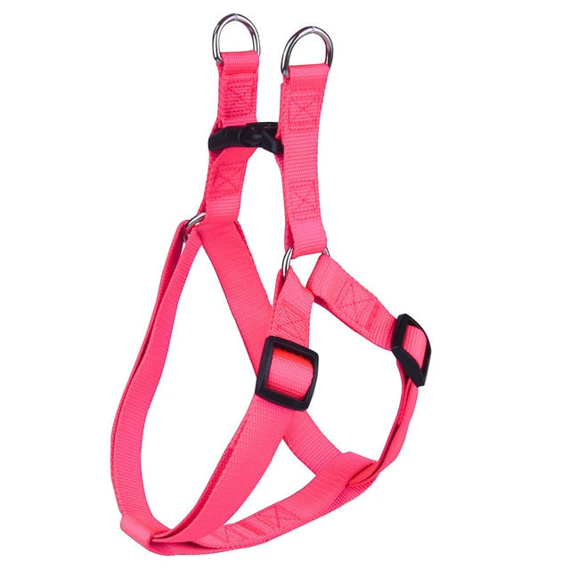 Nylon Pet Dog Harness No Pull Adjustable Dog Leash Vest Classic Running Leash Strap Belt for Small and Medium Dogs