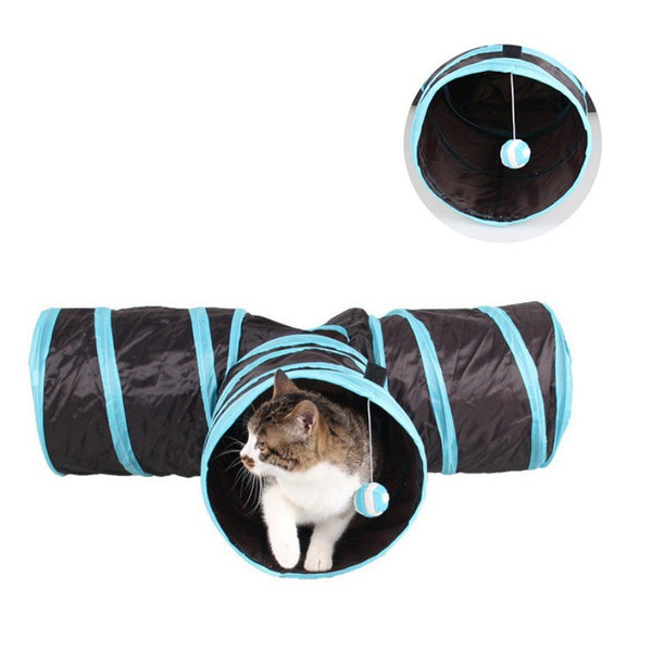 3 Way Foldable Exercise Cat Tunnel