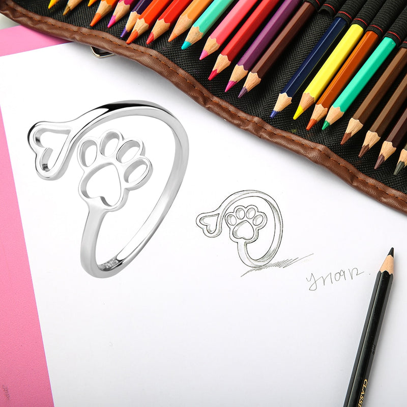 Sterling Silver Paw Ring