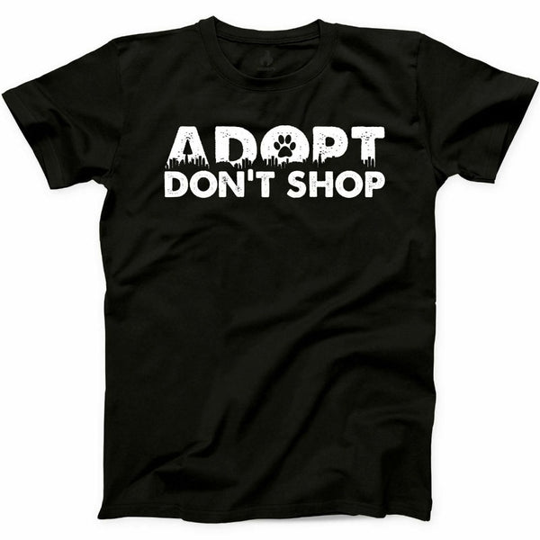 Adopt Dont Shop T Shirt Pet Animal Rescue Love Furry Mom Graphic Tee famous Brand Design Summer New Print Man Cotton