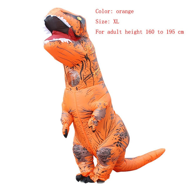 Dinosaur Animal Halloween Costume Adult T-REX Inflatable Christmas Cosplay Jumpsuit