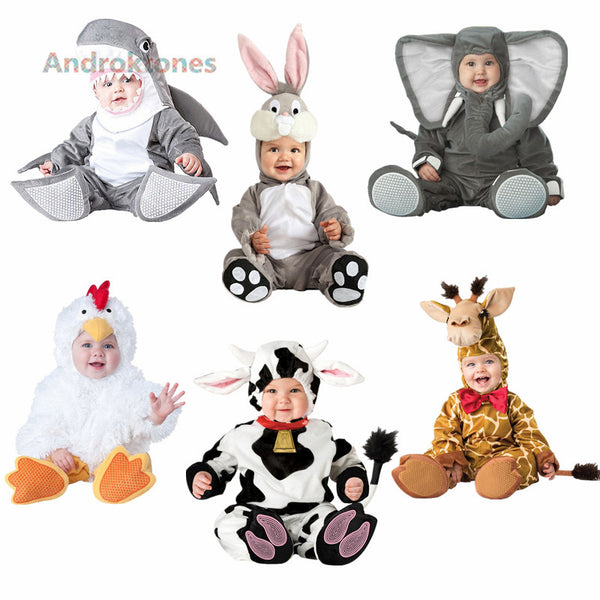 Androktones Halloween Costumes for kids 2018 Jumpsuits Elephant Animal Cosplay Pajamas