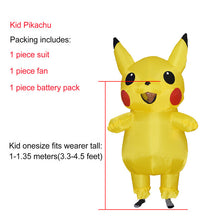 Load image into Gallery viewer, Halloween costumes JYZCOS Inflatable Pikachu For Kids and Adult Cosplay Carnival Pokemon