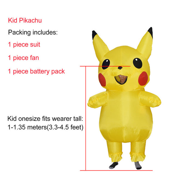 Halloween costumes JYZCOS Inflatable Pikachu For Kids and Adult Cosplay Carnival Pokemon