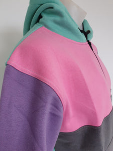 Pastels Hoody with half zip front - No Tail - Just Shear