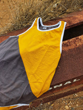 Load image into Gallery viewer, Yellow & Smoke Grey Shearing Singlet - Just Shear
