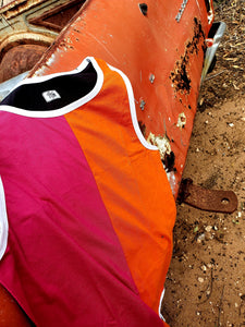 NEW Pink. Orange & Black Shearing Singlet - Just Shear