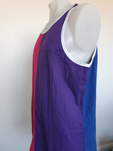 Pink. Purple & Blue Shearing Singlet