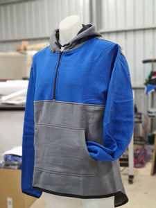 Royal Blue & Smoke Grey | Half Zip Hoody