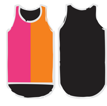 Load image into Gallery viewer, NEW Pink. Orange & Black Shearing Singlet - Just Shear