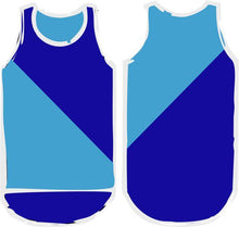 Load image into Gallery viewer, Royal/Sky Blue Diagonal Shearing Singlet - Carlie Rees Custom Designs