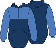 Load image into Gallery viewer, Blue Navy Shearing Hoody with half zip front - Carlie Rees Custom Designs
