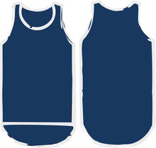 Load image into Gallery viewer, Plain Navy Blue Shearing Singlet - Carlie Rees Custom Designs