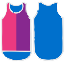 Load image into Gallery viewer, NEW Pink. Purple & Blue Shearing Singlet - Just Shear