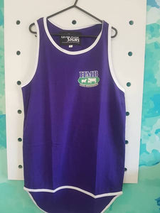 Plain Purple Shearing Singlet - Carlie Rees Custom Designs