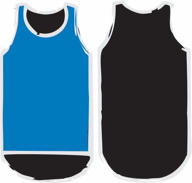 Royal Blue & Black Shearing Singlet - Just Shear