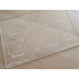 Alphabet, Numbers & Shapes Handwriting Board Set
