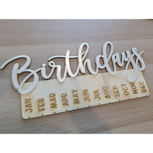 "Mirror & Glitter ""Birthday"" Hanger 500mm wide - FREE SHIPPING"