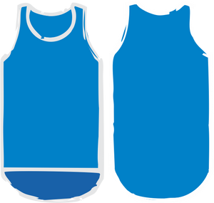 Royal Blue Shearing Singlet - Carlie Rees Custom Designs