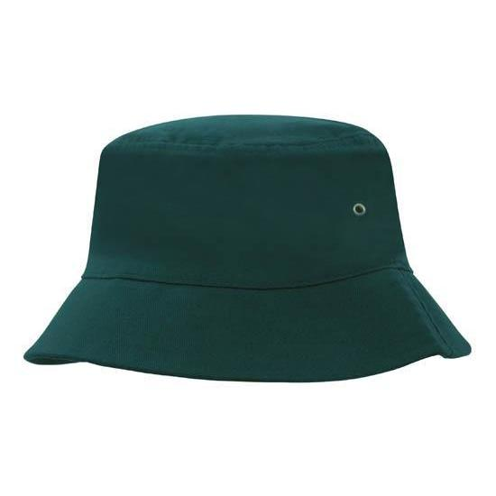 Bottle Green Custom Printed Bucket Hat - Carlie Rees Custom Designs