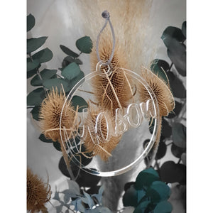 Clear Acrylic Christmas Ornament - Carlie Rees Custom Designs