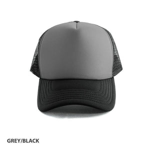Custom Printed Charcoal & Black Trucker Cap - Carlie Rees Custom Designs