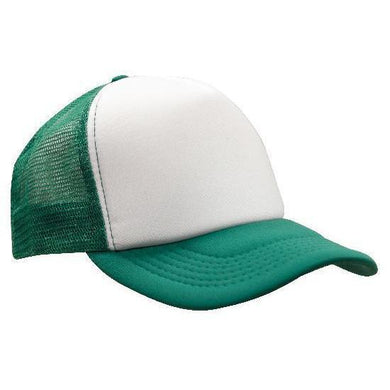 Custom Printed Emerald & White Trucker Cap - Carlie Rees Custom Designs