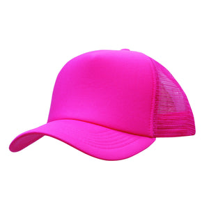 Custom Printed Hot Pink Trucker Cap - Carlie Rees Custom Designs