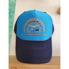 Load image into Gallery viewer, Custom Printed Navy & Cyan Trucker Cap - Carlie Rees Custom Designs