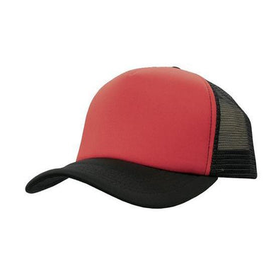 Custom Printed Red & Black Trucker Cap - Carlie Rees Custom Designs