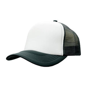 Custom Printed White & Charcoal Trucker Cap - Carlie Rees Custom Designs
